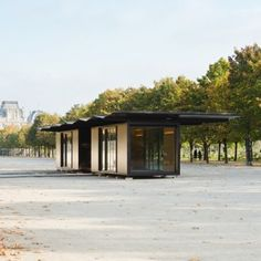 Bouroullec brothers install matching steel Kiosque units for Paris art fair
