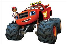 Painel Decorativo Festa Blaze And The Monster Machines(mod3) - R$ 54,90