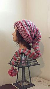Dizzy Elves Hat - Free crochet pattern by Healing Yarns. Crochet Hats Dizzy Elves Hat pattern by Healing Yarns Crochet Adult Hat, Bag Crochet, Crochet Mittens, Crochet Beanie, Crochet Scarves, Crochet Crafts, Crochet Clothes, Love Crochet, Crochet Baby