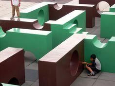 Skulptur im zum Beklettern. Moerenuma Park in Japan. Foto: Marcus Trimle