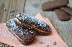Sandwich di pavesini con ricotta e cioccolato
