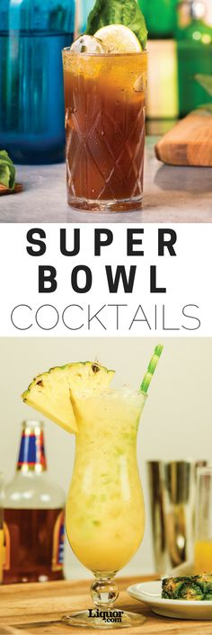 Whether you're watching for the game or the commercials or have just been dragged into an annual Super Bowl party, drinking your way through the biggest football game of the year is an obvious must-do. This year, forget the cooler full of beers loaded into your living room, and shake up some super cocktails that will turn this night in front of the TV into what it really should be: a party. And of course, all these drinks pair with the second most important part of #SuperBowl Sunday: the…