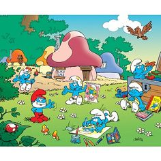 The Smurfs was first created and introduced as a series of comic characters by the Belgian comics artist Peyo (pen name of Pierre Culliford) in where they were known as Les Schtroumpfs. It was later introduced in America. Funny Cartoon Pictures, Cartoon Photo, Classic Cartoons, Cool Cartoons, Retro Cartoons, Photo Vintage, Saturday Morning Cartoons, Happy Saturday, 80s Kids