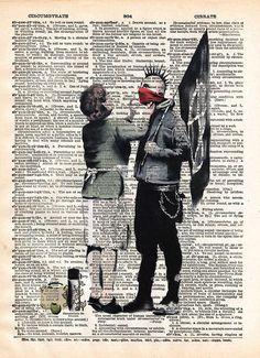 Punk Mum banksy art, punk mom anarchy print, dictionary art print, wall art