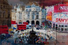 MORNING LIGHT, PICCADILLY CIRCUS 20X30