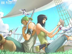 Robin X Zoro 009 by Sherry04 on deviantART