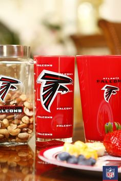 Down a big tall glass of victory with a perfect Atlanta Falcons pint from Duck House.  #NFLFanStyle #contest