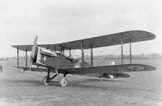 AIRCRAFT FIRST WORLD WAR 1914-1918 (Q 68134)   A De Havilland DH 9A two-seat day bomber, 1918. DH 9As first entered service with No. 110 Squadron, Royal Air Force, in June 1918 and remained in service until 1931.