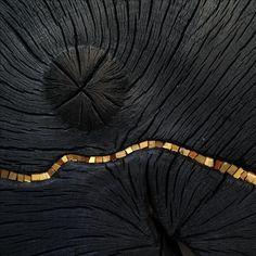 """Sculpture """"Lune Noire"""" (Black Moon) Détail Suzanne Rippe 2016"""