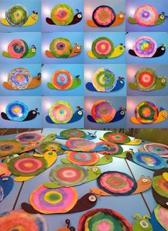Cute snail activity with concentric circles.