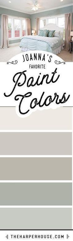 Joanna Gaines favorite paint colors Fixer Upper paint colors Modern Farmhouse paint colors best neutral paint colors via theharperhouse Fixer Upper Paint Colors, Best Neutral Paint Colors, Favorite Paint Colors, Interior Paint Colors, Paint Colours, Interior Design, Wall Colors, Interior Ideas, Favorite Color
