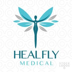 LOGO SOLD Beautiful powerful stylized person with their hands reaching outwards. Their hands are transformed into leave shaped wings. Typography Logo, Logo Branding, Clover Logo, Massage Logo, Clinic Logo, Butterfly Logo, Make Your Own Logo, Clinic Design, Beauty Logo