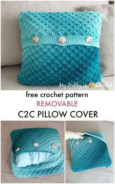 Learn how to crochet an envelope style of pillow case that you can easily remove for washing or change it every time you want. Learn how to crochet an envelope style of pillow case that you can easily remove for washing or change it every time you want. Crochet Pillow Cases, Crochet Pillow Patterns Free, Crochet Cushion Cover, Crochet Cushions, Knit Pillow, Afghan Patterns, Square Patterns, Free Pattern, Cushion Cover Pattern