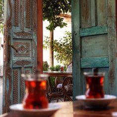 Turkish tea ❤️☕️ --- Sirince,Selcuk ,Izmir -Turkey  / photo by ferycan