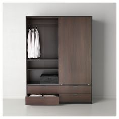 TRYSIL Ντουλάπα με συρόμ πόρτες/4 συρτάρια - IKEA