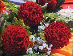 Agulhas Coloridas Croche e Trico: Flor (Beautiful Zinnia Flowers)...