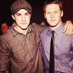 Matt Donovan and Tyler Lockwood at a party! - @vampirejournals- #webstagram