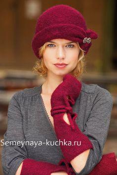 шапки вяленые вязаные на спицах
