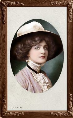 "Hat lady - this ""Hat Lady"" is Lily Elsie. Images Vintage, Vintage Pictures, Vintage Photographs, Vintage Glamour, Vintage Beauty, Vintage Ladies, Anos 20s, Lilie Elsie, Edwardian Fashion"
