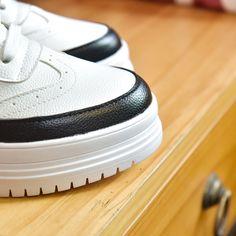half off 59414 832ae Kadın Deri Ayakkabı Platformu Kalın Alt Karışık Renkler Yuvarlak Ayak Bahar  Sonbahar Moda Marka Bayanlar Casual