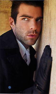 Zachary Quinto  (He's AMAZING in American Horror Story: Asylum).