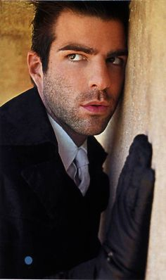 Zachary Quinto  (He's AMAZING in American Horror Story: Asylum).