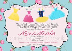 Pink Rose Princess Dress Up Birthday Party by BarefootStudiosOk