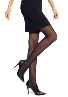 Hue Flat-Tering Fit Opaque Tights - Black - 1