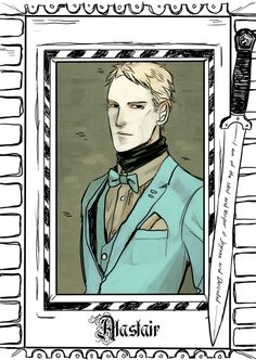 Alastair Carstairs - released on Cassandra Clare's Tumblr - drawn by Cassandra Jean