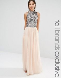 Shop Maya Tall Heavily Embellished Bodice Maxi With High Neck. With a variety of delivery, payment and return options available, shopping with ASOS is easy and secure. Shop with ASOS today. Bridesmaid Dresses, Prom Dresses, Formal Dresses, Wedding Dresses, Bridesmaid Ideas, Bridesmaids, Asos Maya, Pretty Dresses, Beautiful Dresses