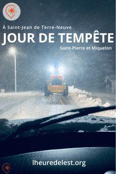 Comment on vit une grosse journée d'hiver à Saint-Pierre et Miquelon ? A Terre-Neuve la Péninsule d'Avalon a essuié la tempête du siècle. Impressions. #snowmageddon #hiver #saintpierreetmiquelon #terreneuve La Tempete Du Siecle, Vent Violent, Canada, Saint Jean, Island, Movie Posters, Impressionism, Winter, Film Poster