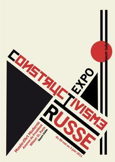 Affiche Constructivisme Russe on Behance