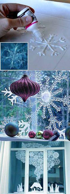 Как украсить дом на Новый Год: делаем прозрачные снежинки своими руками | Обустройство и ремонт. | Постила