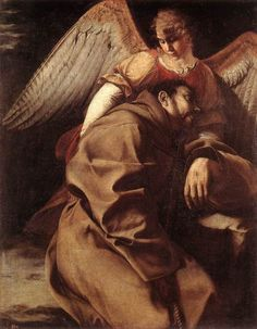 Orazio Gentileschi - St Francis Supported by an Angel (ca. 1603)