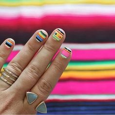Do you need some new nail inspiration? These bold Western manicures will get you compliments left and right. Treat yourself to a manicure this weekend. Love Nails, How To Do Nails, Fun Nails, Pretty Nails, Western Nail Art, I Spy Diy, Nail Decorations, Tips Belleza, Cool Nail Designs