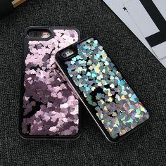 iPhone 6 Plus 7 7 Plus Case Love Heart Glitter Cover Quicksand Iphone 7, Iphone Cases, Love Heart, 6s Plus, Sequins, Glitter, Cover, Heart Of Love, Iphone Case