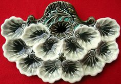RARE Antique French Majolica Oyster Platter or Plate Orchies C 1880 | eBay