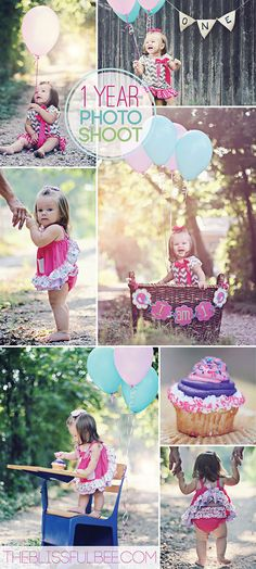 New session posted on The Blissful Bee! 1st Birthday Photo Session