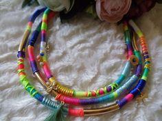 Statement necklace Ibiza ethnic hippie by MadamDana on Etsy