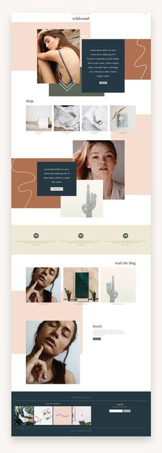 The Wildwood Squarespace Template Kit is an artistic, collage-style website template kit that is perfect for businesses with a creative edge that want to stand out with a unique design. #Squarespace #Business #Coaches
