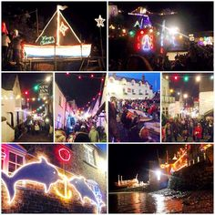 CHRISTMAS LIGHTS_CLOVELLY_ENGLAND