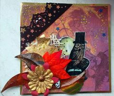 Design done by Valerie Tups using Haunted Ephemera Collage Sheet by Gecko Galz