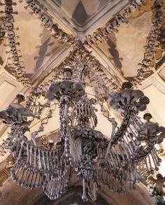 The Bone Church/Sedlec Ossuary Chandelier in the Czech Republic