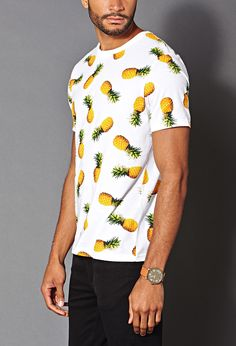 Pineapple Print Tee | 21 MEN - #Pineapples #SummerForever #Prints