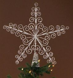 Vintage Christmas Tree Topper Glitter Star by MissMyrtleVintage ...