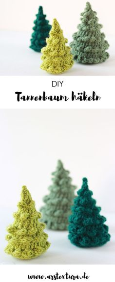 * 12 * Tannenbäumchen häkeln Abeto de ganchillo The post Crochet 12 * abetos appeared first on Crystal Wilson. Blog Crochet, Crochet Crafts, Yarn Crafts, Fabric Crafts, Crochet Projects, Diy And Crafts, Crochet Tree, Crochet Granny, Diy Crochet
