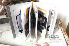 """making a mini book from the """"hello life"""" Project Kit is a fun way to use it :-) - Kerstin Kreis"""