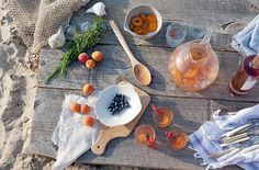 Beachy lunch - with a rosé sangria