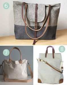 A handmade bag round up from paper n stitch.