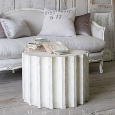 The new Column Coffee Table is a modern take on a classic theme. Pair it together with the Column Side Table or use it separately to add some old world elegance to your living space.